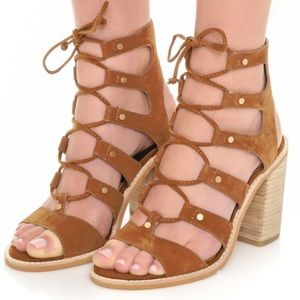 Dolce Vita Lyndon Lace Up Sandal Heeled 8.5